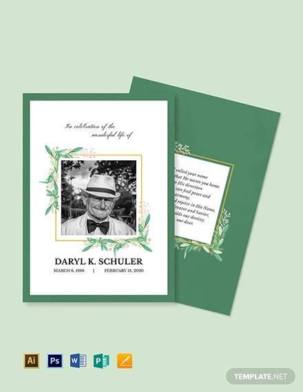10 Memorial Card Templates Ai Psd Word