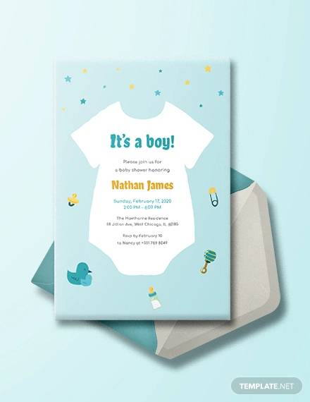 Free 21 Sample Printable Baby Shower Invitation Templates In Ai Ms Word Pages Psd Publisher