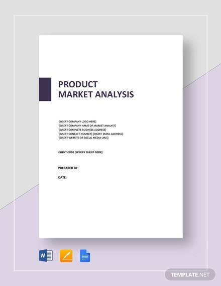 product market analysis template