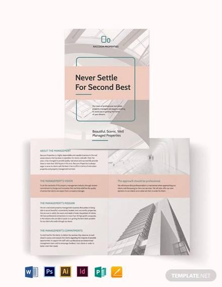 property management bi fold brochure template