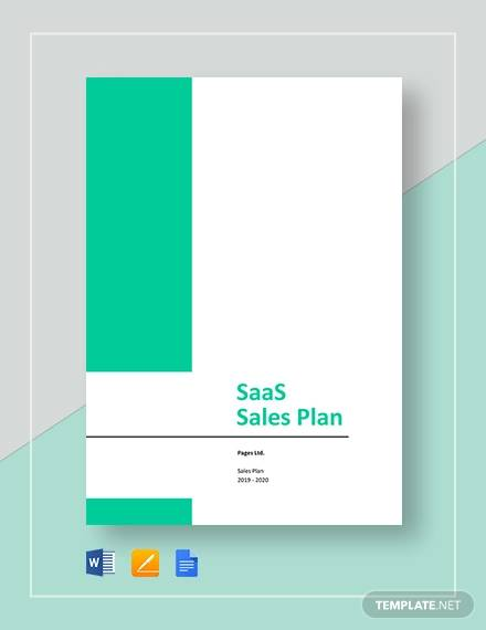 saas sales plan template