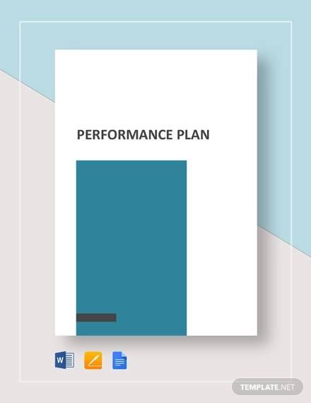 sample performance plan