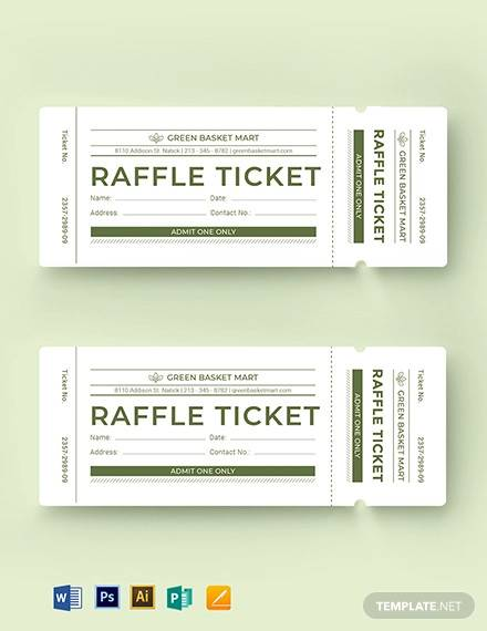 simple raffle ticket template