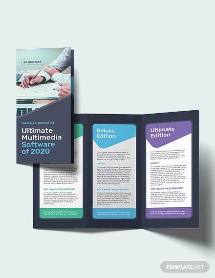 Free 21 Software Brochure Templates In Psd Eps Ms Word Apple Pages Indesign Publisher Ai