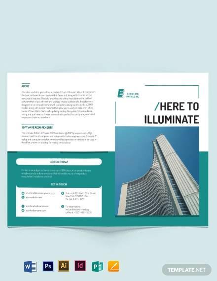 software developer bi fold brochure template