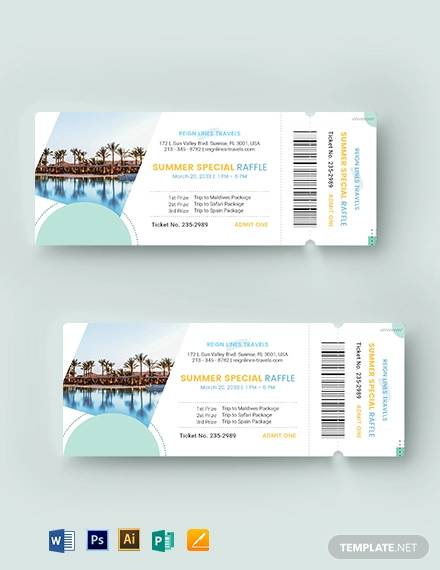 tour raffle ticket template