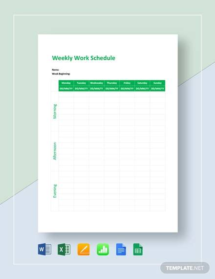 weekly work schedule template1