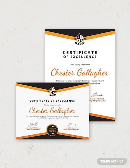 academic certificate