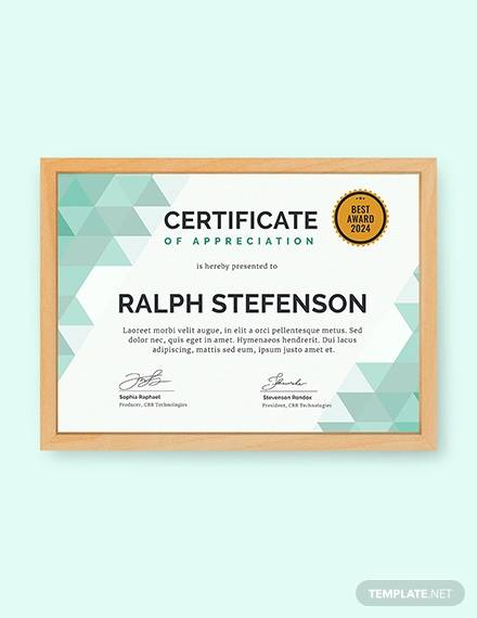 free modern certificate of participation