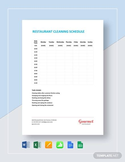 weekly restaurant cleaning