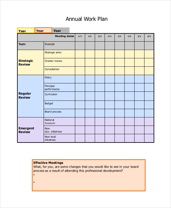 Sample Work Plan   Documents In Word