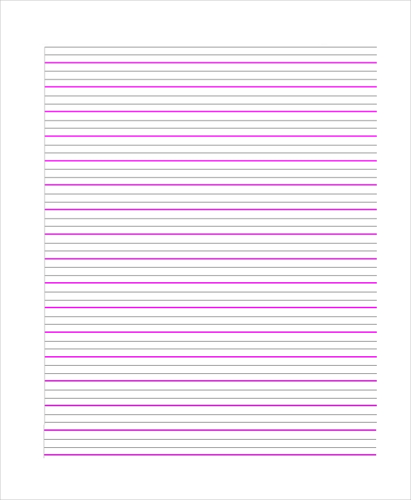 Sample Lined Paper  UpriseTk
