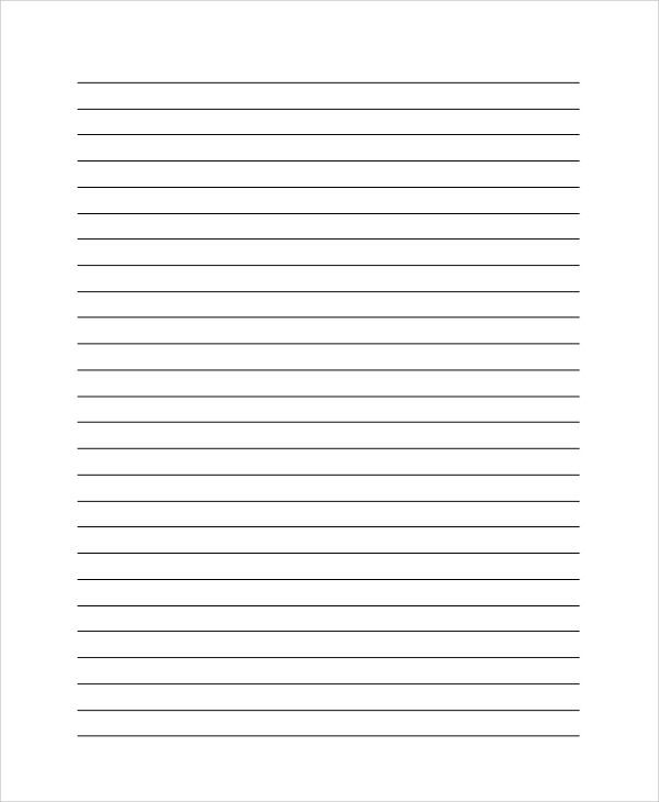 Lined Paper PDF Sample 9 Examples in PDF – Lined Blank Paper