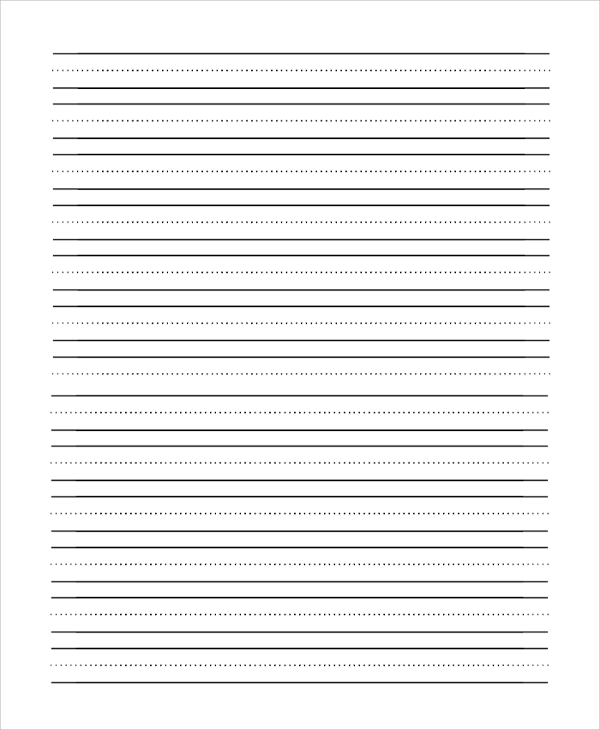 Lovely Handwriting Lined Paper On Lined Pages For Writing