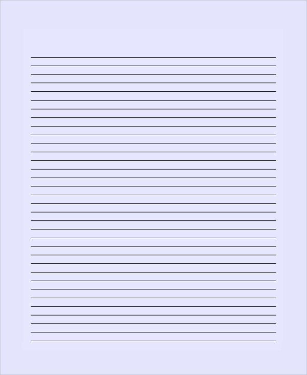 Sample Lined Paper Sample Lined Paper  Lined Paper Templates