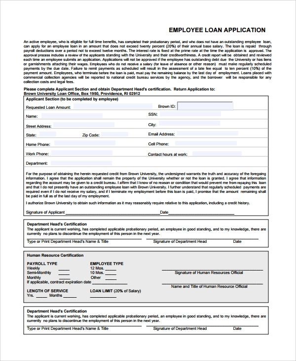 Sample Employee Application Form 7 Documents in Word PDF – Sample Employment Application