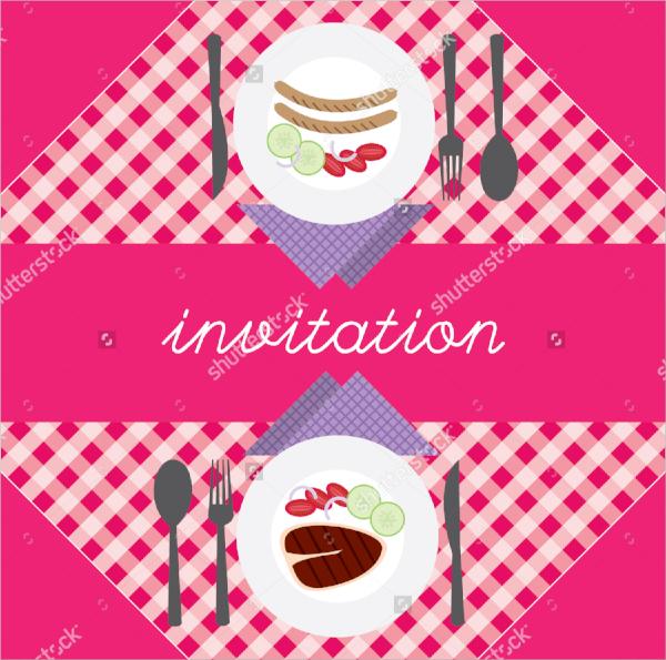 colorful dinner invitation