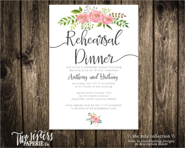 33  dinner invitation templates