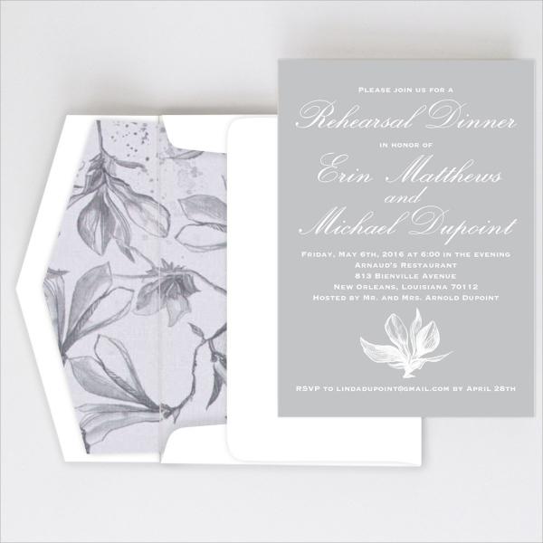 elegant dinner invitation