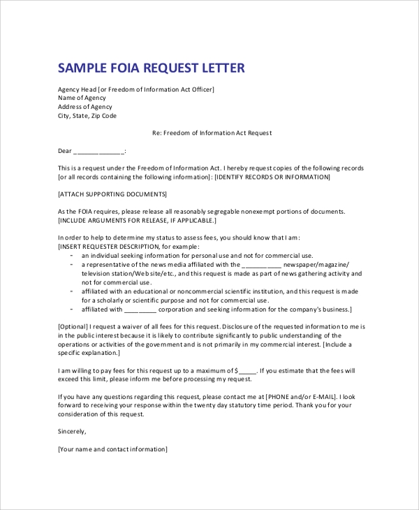 Formal Request Letter