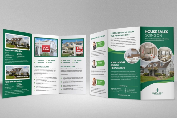 sale tri fold property brochure