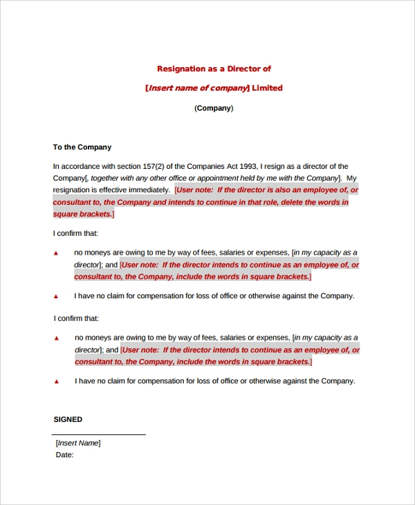 sample resignation letter 19 documents in pdf word