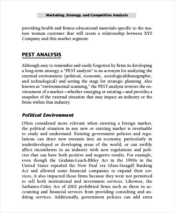 pest market analysis
