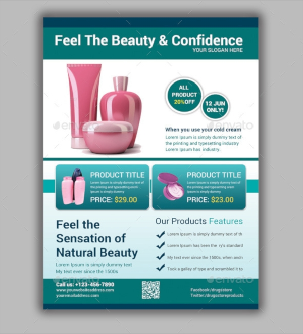beauty product flyer template