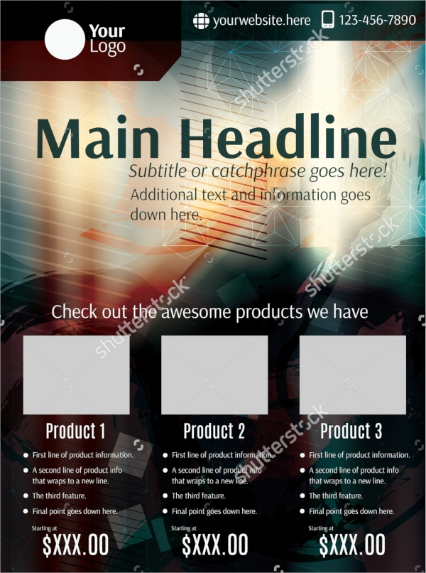 grunge product flyer