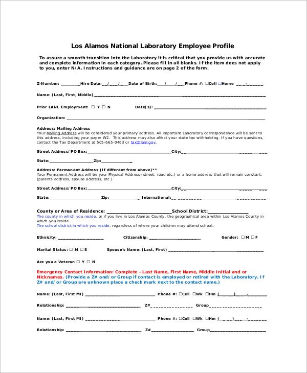 laboratory employee profile