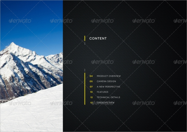 product showcase brochure template
