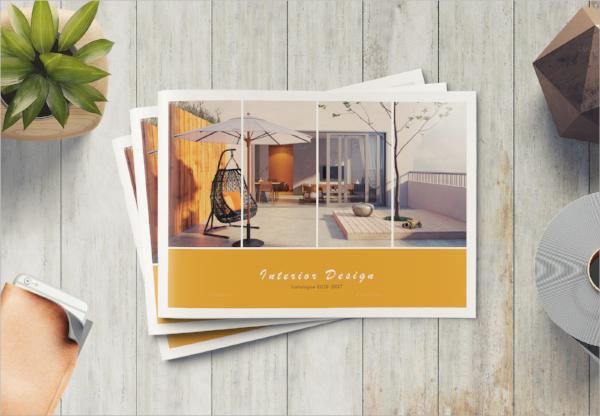 minimal product brochure template