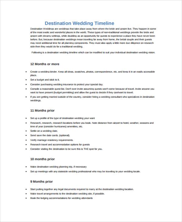 Wedding Planning Timeline: 21+ Sample Timelines