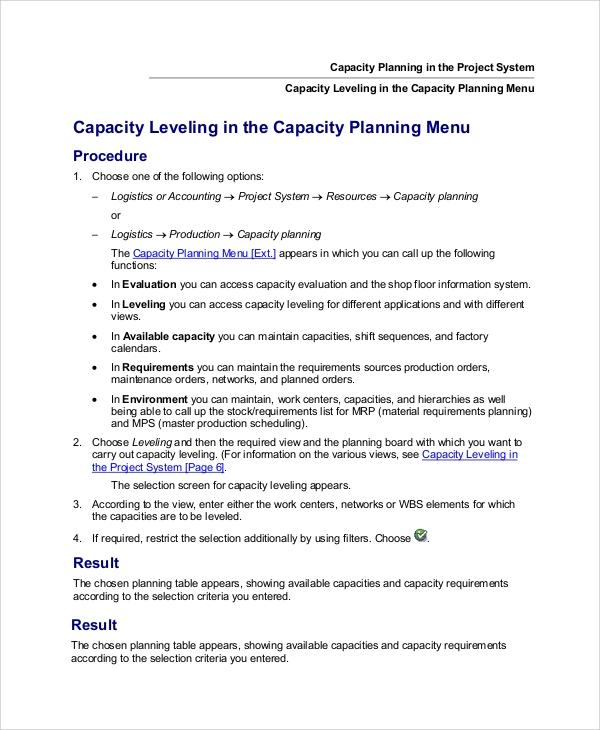 project capacity planning