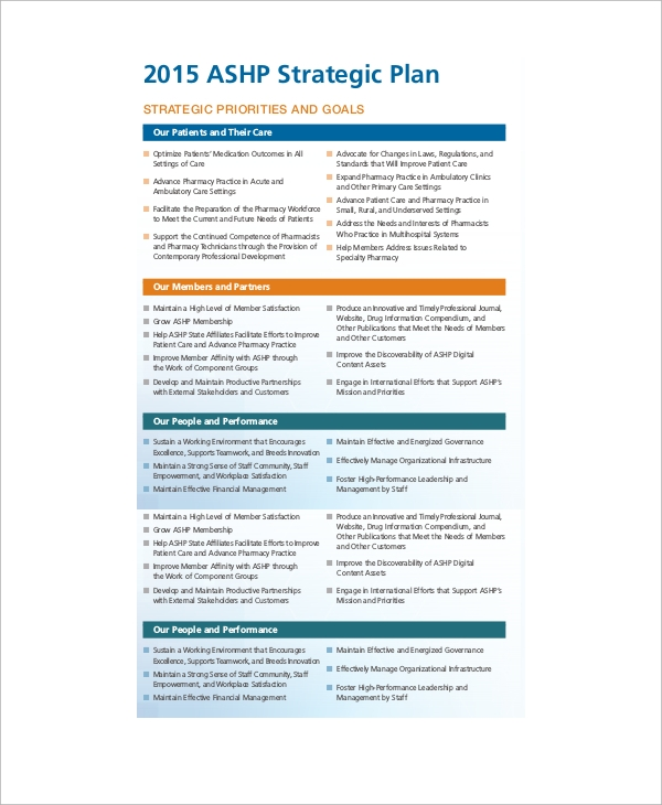 basic strategic plan