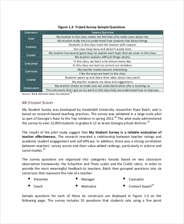 student perception survey
