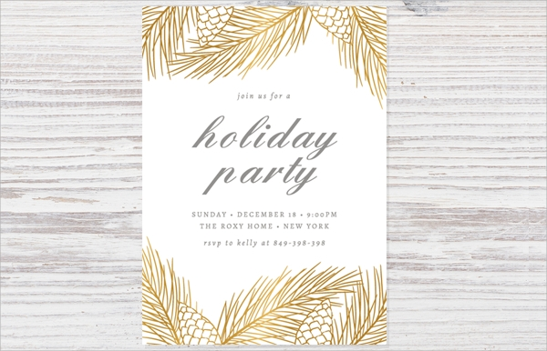 editable holiday party invitation