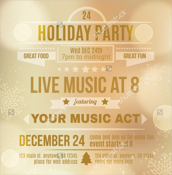 Holiday Party Invitation Templates  Psd Vector Eps