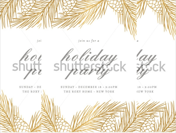 vector holiday party invitation