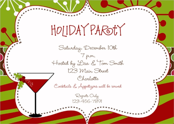 sample holiday party invitation