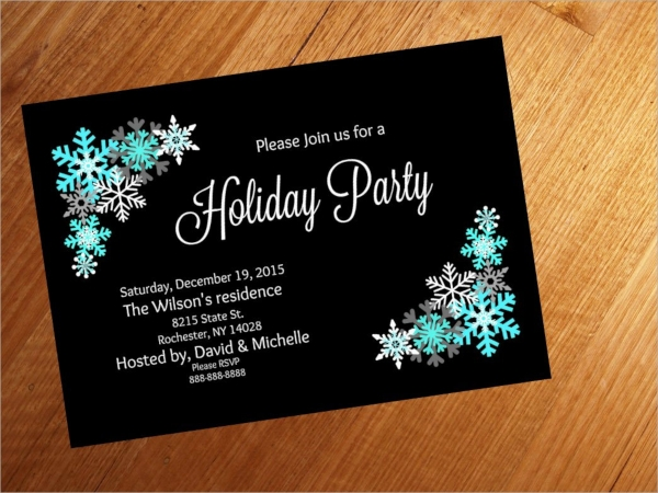 colorful holiday party invitation
