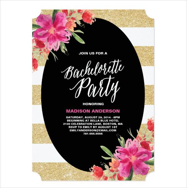 amazing bachelorette party invitation