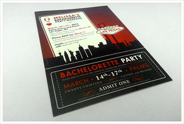 useful bachelorette invitation