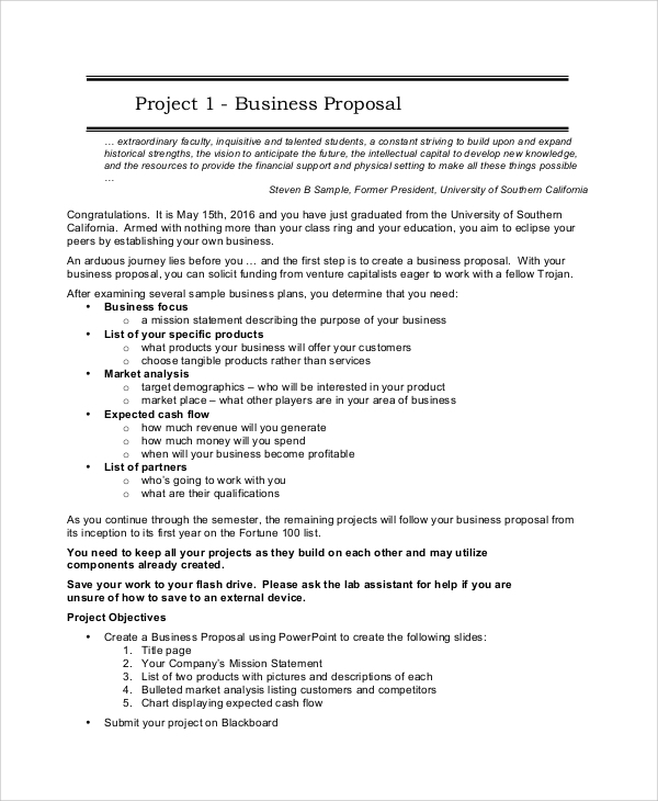 Sample Project Proposal   Documents In Word Pdf