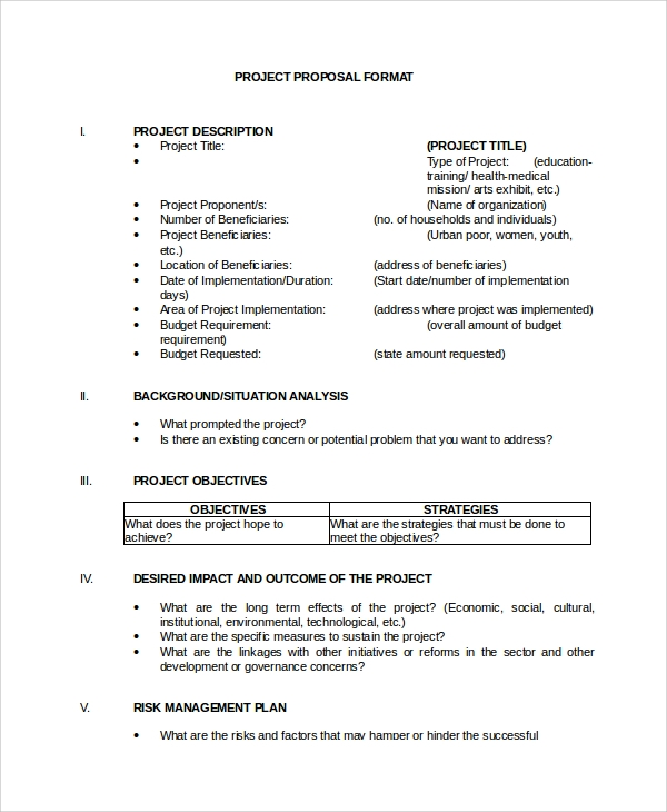 Sample Project Proposal 14 Documents In Word Pdf