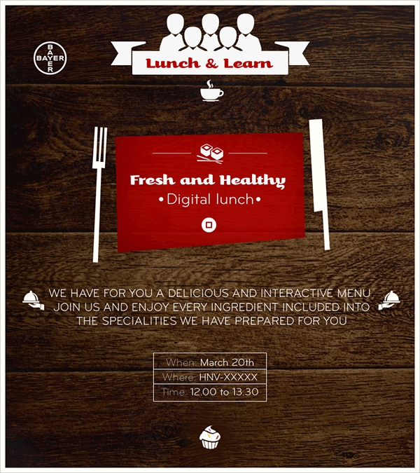 Lunch Invitations  Psd Vector Eps