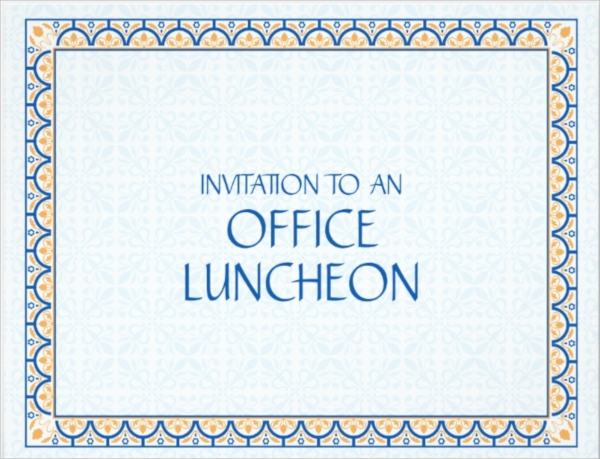 15 Lunch Invitations PSD Vector EPS – Lunch Flyer Template