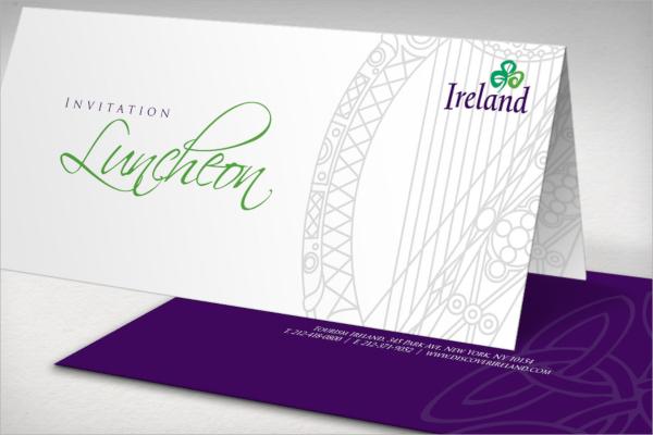 corporate lunch printed invitation