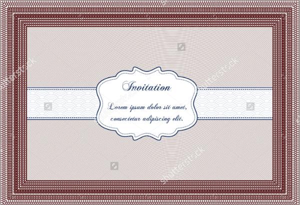 vector formal invitation template