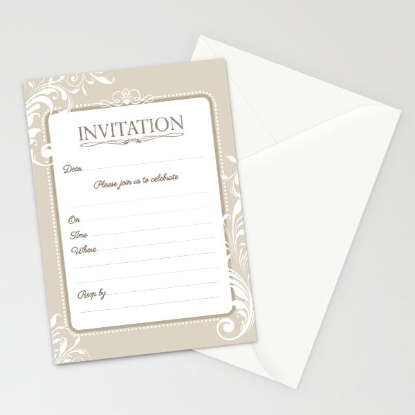 16 Formal Invitations PSD Vector Illustrator – Formal Invitation Templates Free